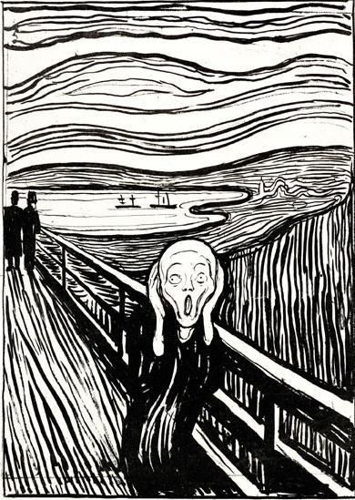 Edvard Munch: Výkřik (litografie)