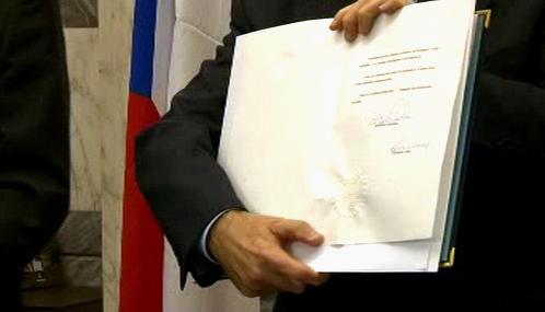 Česká ratifikační listina k Lisabonské smlouvě