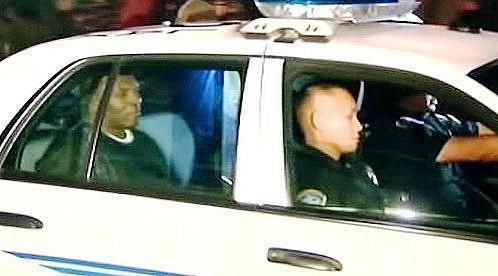 Mike Tyson v policejním voze