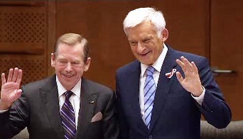 Václav Havel a Jerzy Buzek