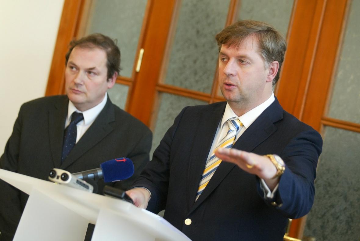 Jaroslav Pejša a Petr Bendl