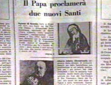 Italské noviny o kanonizaci Anežky České