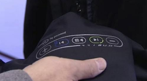 Rukáv bundy s ovládacím panelem
