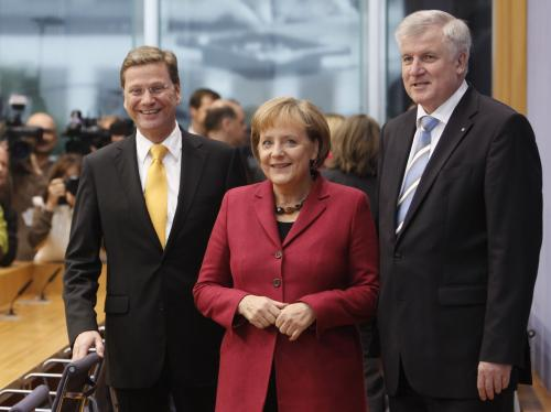 Šéfové stran německé vládní koalice
