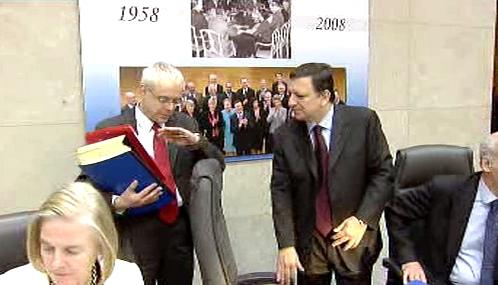 Vladimír Špidla a José Barroso