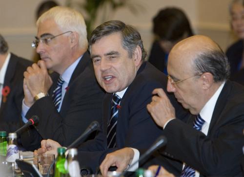 Gordon Brown na setkání finančních představitelů zemí G20