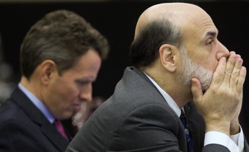 Ben Bernanke a Timothy Geithner