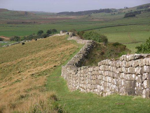 Zbytky Hadriánovy zdi