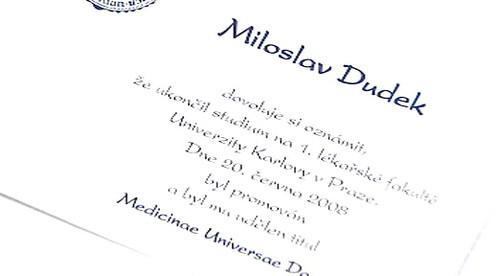 Falešné oznámení Miloslava Dudka