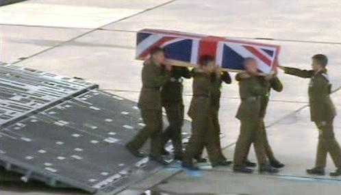 Padlý britský voják