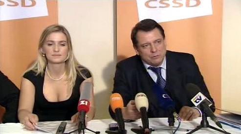 Alena Borůvková a Jiří Paroubek