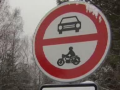 Dopravní značka v Krkonoších