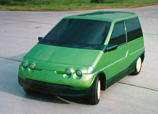 Model elektromobilu z dílny jabloneckého Liazu