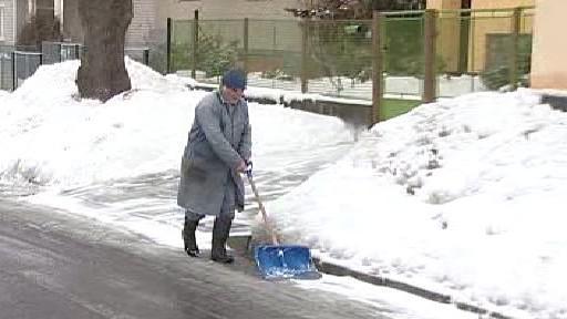 Ruční odklízení sněhu