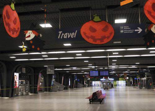Opuštěné nádraží Brusel Midi
