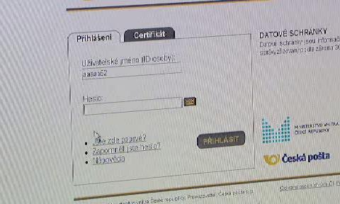 Přihlášování do datové schránky