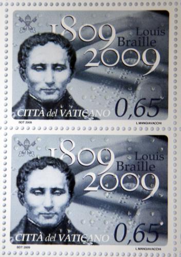 Známky k výročí narození Louise Brailla