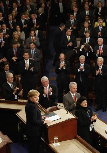 Angela Merkelová v Kongresu USA