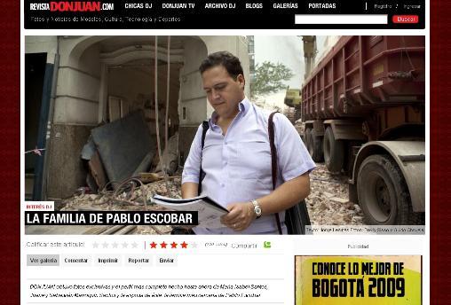 Kolumbijský časopis Don Juan přinesl vzpomínky syna Pabla Escobara