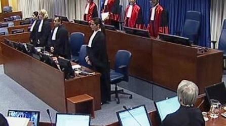 Zahájení druhého dne procesu s Radovanem Karadžičem