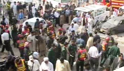 Následky teroristického útoku v Rávalpindí