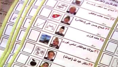 Afghánský volební lístek