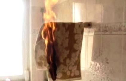 Hořící osuška