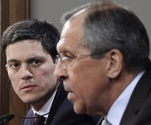 David Miliband a Sergej Lavrov