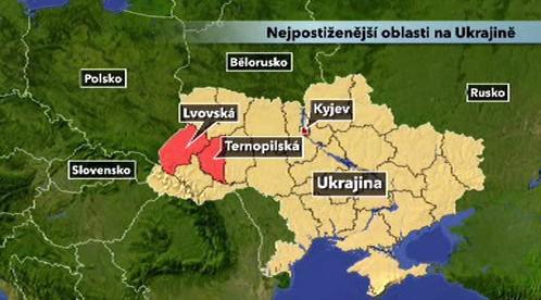 Výskyt chřipky na Ukrajině