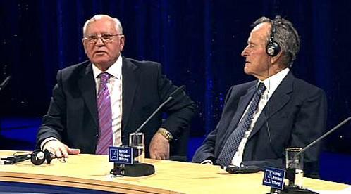 Michail Gorbačov s Georgem Bushem