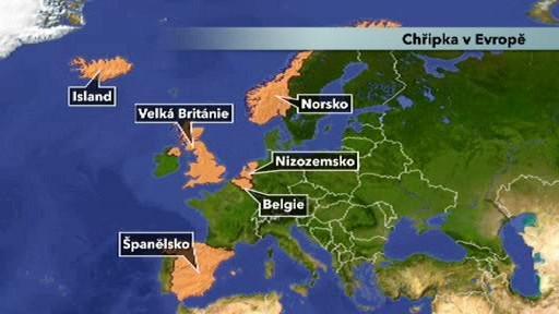 Výskyt chřipky v Evropě