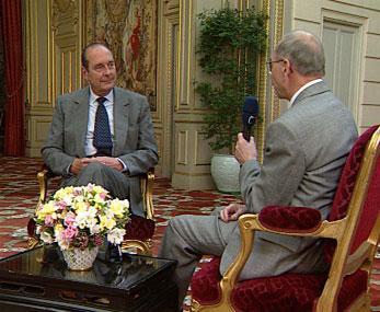 Jacques Chirac a Zdeněk Velíšek