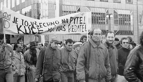Protest Národního divadla v listopadu 1989