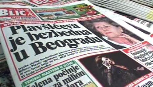 Srbský tisk o Biljaně Plavšičové