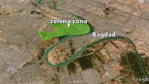Místo explozí v Bagdádu