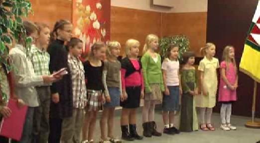 Dětský sbor při vystoupení