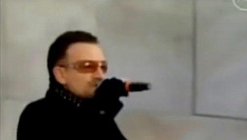 Zpěvák U2 Bono Vox
