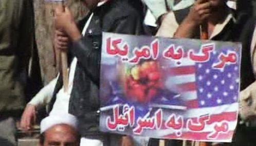 Protiamerická demonstrace v Kábulu