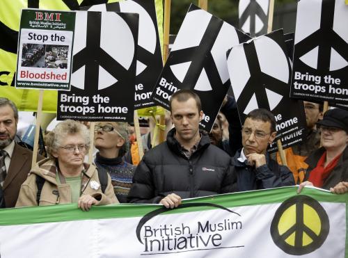 Protest proti válce v Afghánistánu