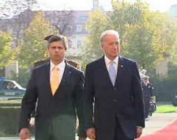 Jan Fischer a Joe Biden