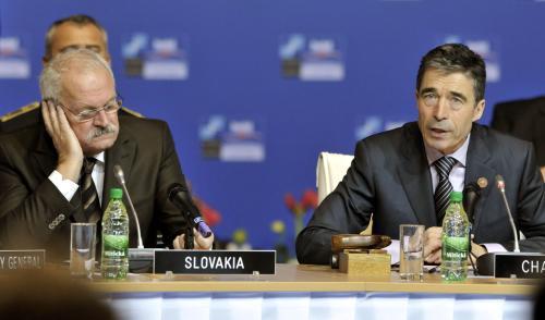 Ivan Gašparovič a Anders Fogh Rasmussen