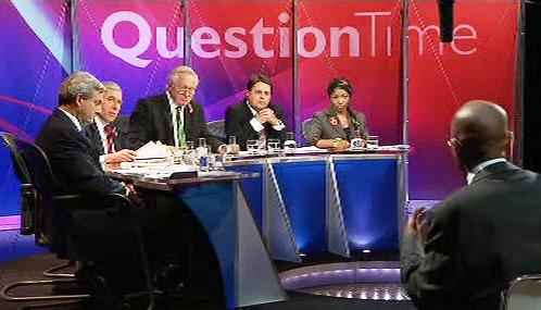 Diskusní pořad Question Time televize BBC