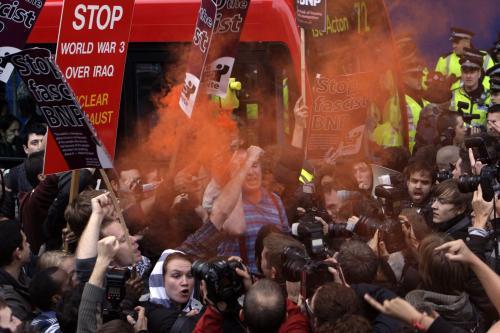 Protesty před BBC