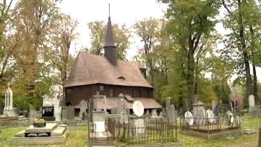 Hřbitovní kostel v Broumově
