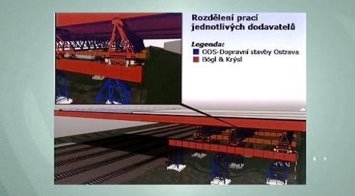 Rozdělení prací na mostu ve Studénce