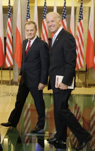 Donald Tusk a Joe Biden