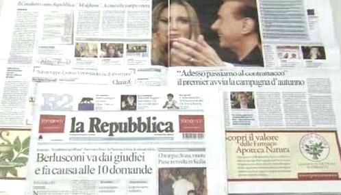 Tisk o Silviu Berlusconim
