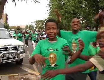 Botswanští voliči