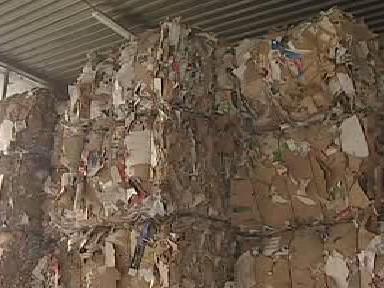 Sklad papírového odpadu
