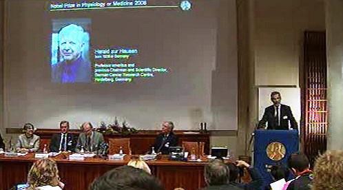 Vyhlášení Nobelových cen za lékařství